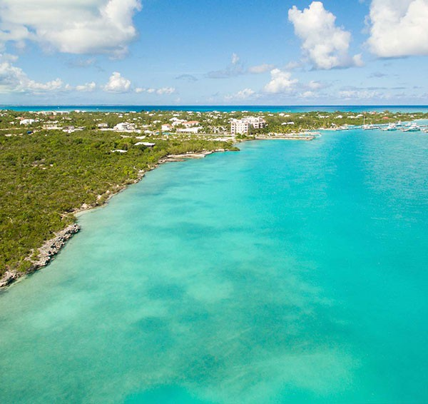 Turks and Caicos Luxury Villas, Leeward Channel Aerial