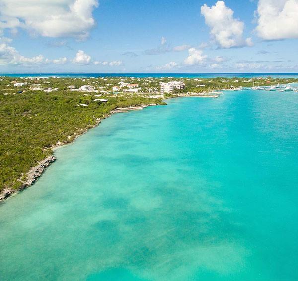 Turks and Caicos Luxury Villas, Leeward Channel Aerial