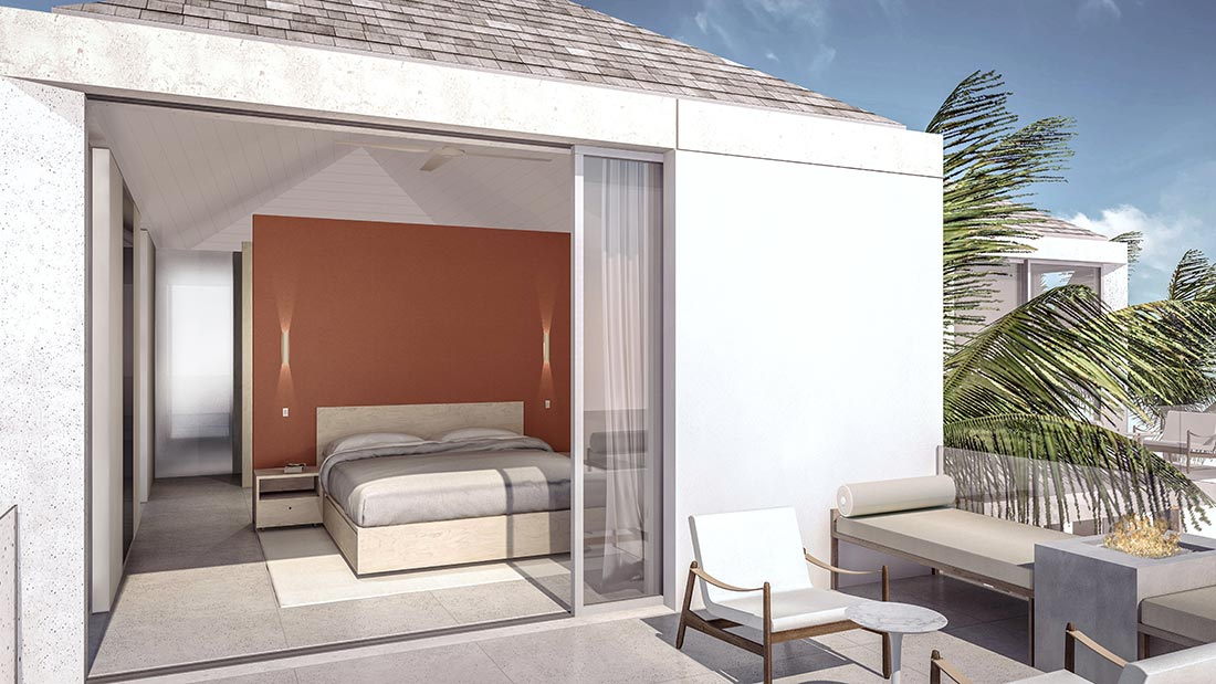 Parallel house master bedroom terrace blue cay estate turks and caicos Master bedroom with terrace
